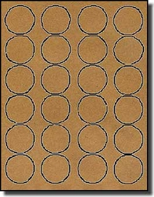 2 400 brown kraft labels 1 5 8 diameter round 100 for Avery 2 round label template