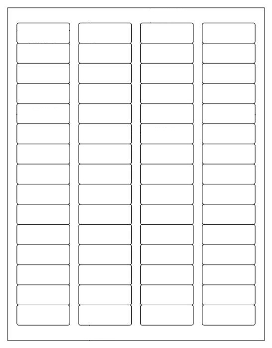 6000 Labeloutfitters Return Address Labels Matte White Stickers