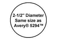 1 200 round labels 2 1 2 inch diameter white matte laser for 1 inch diameter circle template