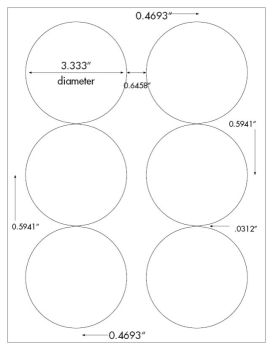 7 inch diameter circle template - 600 photo glossy 3 1 3 diameter round inkjet only labels