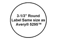avery 2 round label template - 600 laser or inkjet labels round inch diameter