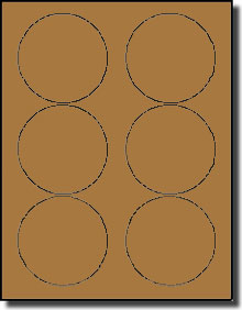 1 inch diameter circle template - 120 round brown kraft labels 3 1 3 inch diameter stickers