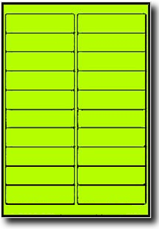 400 fluorescent neon yellow laser only labels 4 x 1 inch 20 400 fluorescent neon yellow laser only labels 4 x 1 inch 20 sheets use avery 5261 template pronofoot35fo Gallery