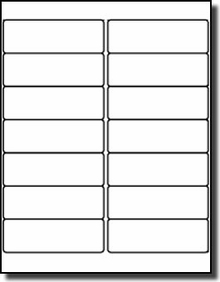 Label Outfitters White Matte Mailing Labels X Laser - 3 x 4 label template
