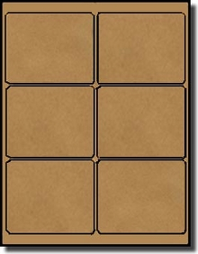 avery 2 x 3 label template - 600 brown kraft laser inkjet labels 4 x 3 1 3 6 labels