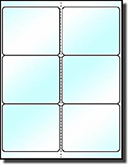 120 laser only cystal clear 4 x 3 1 3 labels six per for Avery 5164 template pdf