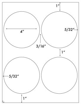 4 inch circle stickers arts arts for 7 inch diameter circle template