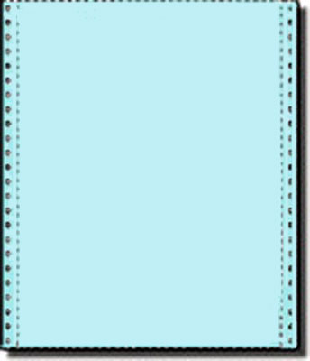 2 700 sheets of 9 5 x 11 carbonless one part 20 lb light Blue bond paper