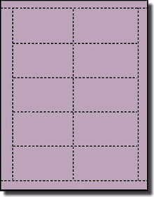 Bulk Package Orchid Pastel Purple Bristol Laser And - Template for business cards 10 per sheet