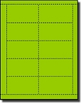 Light & Dark Green Card Sheets