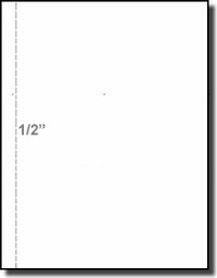 Perforated Business Forms 04112 Printworks Professional Paper, 24 pound White Laser and Inkjet Bond, 1/2 inch Vertical Perforation, Paris Business Forms, 8.5 x 11