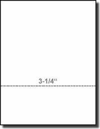 Printworks Professional 04115 Perfed Business Paper, 3-1/4 inch Perf, 20 Pound Weight White Laser - Inkjet Bond, Paris Business Forms
