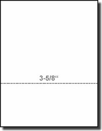 Printworks Professional 04134 Perforated Paper 8-1/2 x 11 White 24# Laser Inkjet Bond, Paris Business Forms