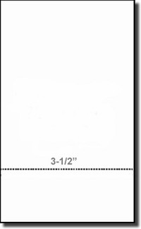 "Printworks Professional 04173 Perforated Business Paper, Legal Size, 3-1/2"" Perf, 24# Heavy Weight"