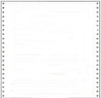 "3,500 Sheets 10-5/8"" x 11 One Part - One Ply Blank 15#, NO SIDE PERFORATIONS, Continuous Stock Computer Paper"