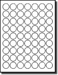 1,260 Small Blank Printable 1 inch Diameter Round White Inkjet and Laser Labels, Mailing Seals, Target Dots or Stickers, 20 Sheets