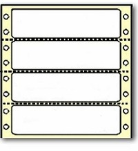 5,000 Compulabel® 110700 White Continuous Form, Dot Matrix Labels, 3-1/2 x 15/16 Perforated Between Labels