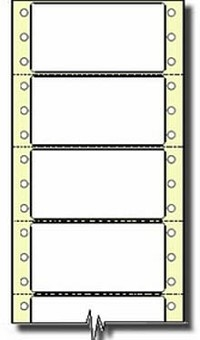5,000 Compulabel® 111058 White Continuous Form Labels, 2-3/4 x 1-7/16, Perforated Between Labels 5M Labels per Case