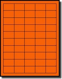 1,000 Neon Fluorescent Neon Orange Laser ONLY Labels, 1-1/2 x 1 inches, 20 Sheets, Not Made by Avery® Labels