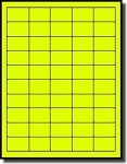 1,000 Labels 1.5 x 1 Bright Yellow Fluorescent Neon Laser ONLY Square Corner Labels, 20 Sheets with 50 Labels per Sheet, Not Made by Avery® Labels