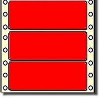 Compulabel® 161605 Fluorescent Red Continuous Labels, P1-40, 4 x 1-7/16, 5,000 Labels per Box