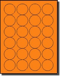 480 Fluorescent Neon Orange Laser ONLY Labels, 20 Sheets use Avery® 5293 Template