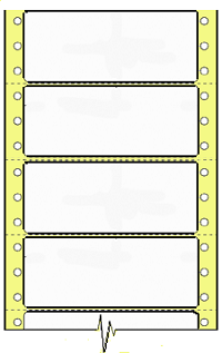 Compulabel® 170403 Dot Matrix or Impact, Continuous, Latex Impregnated  3-1/2 x 1-7/16 Tape Reel Labels, Perforated Between Labels