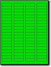 8,000 Fluorescent Green Labels,1.75 x 0.5, 100 Sheets with 80 Labels per Sheet, use Avery® 5267 Template Laser Printers Only