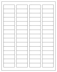 "1,200 Label Outfitters® Blank Printable Return Address Labels, 1.75"" x .66"" Laser and Inkjet Printable, 60 Labels  per sheet - 20 sheets"