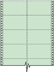 Compulabel® 210600 Green, 2 Across, Continuous Pin Feed Index Cards, 5 x 3