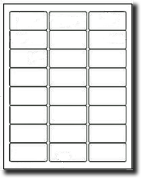 2,400 <font color=black>Removable Adhesive</font color> White Matte Laser and Inkjet Labels, 2.5 x 1.25, 100 Sheets, 24 labels per sheet