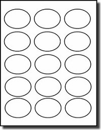 300 Oval Laser Matte Clear Labels, 2.5 x 1.75 inches, 15 Labels per Sheet, 20 Sheets