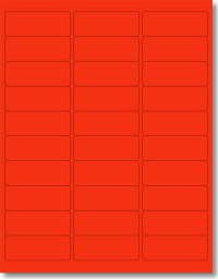 600 fluorescent neon red laser only labels 2 5 8 x 1 laser only 20