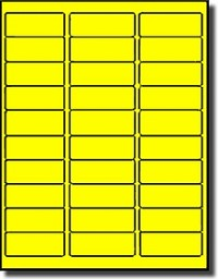 fluorescent yellow address labels 30 per sheet avery 5160. Black Bedroom Furniture Sets. Home Design Ideas