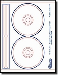 200 CD or DVD Labels, Compulabel® 312660 use Avery®  8931, 5931Template 100 Sheets
