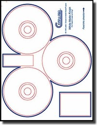 60 Compulabel® 312737 HP® Format CD - DVD Labels, 3/Sheet