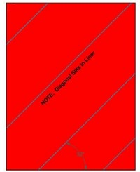 Compulabel® 313200 Full Sheet Fluorescent Neon Red Label use Avery® 5165 Template, 100 Sheets for Laser Printers Only, Full Page