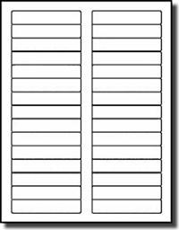 Compulabel White Blank Printable File Folder Labels X - Printable file folder labels template
