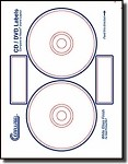 200 Compulabel® 375074 Crystal Clear Transparent Neato® MediaFACE Format CD, DVD Labels