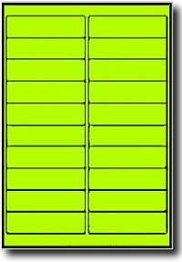 Fluorescent neon yellow laser only labels 4 x 1 inch 20 sheets 400 fluorescent neon yellow laser only labels 4 x 1 inch 20 sheets use avery 5261 template pronofoot35fo Images