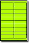2,000 Fluorescent Yellow Laser ONLY Labels, 4 x 1 inches, 100 Sheets use Avery� 5261 Template