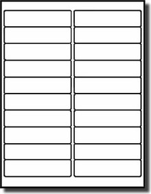 avery 1 x 4 label template - 400 label outfitters labels 4 x 1 blank white laser and