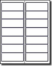 280 Label Outfitters® Rectangular Labels, White Matte for Laser and Inkjet, 4 x 1.5 inches, 14 Labels per Sheet, Vertical Perf Between Columns, 20 Sheets, Avery® 5159 Size