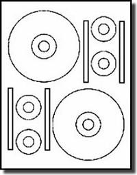 40 Stomper® Pro Format CD / DVD Labels, Matte White for