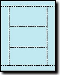 750 Laser or Inkjet Printable Post Cards, 3 inch x 5 inch, 3 per sheet, 250 sheets, Light Blue