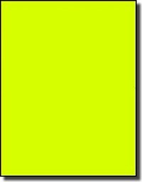 20 Full Sheet Fluorescent Neon Yellow LASER ONLY 8.5 x 11 Labels, use Avery® 5165 Template