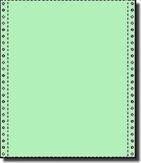 2,700 Sheets of 9.5 x 11 Carbonless One Part, 20 lb Light Green Bond Computer Paper,  Perforated 1/2 Both Sides