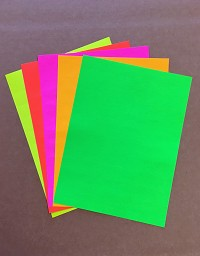 "NEW! High Visibility Neon Labels, Rectangular 2 5/8"" x 1"" Address Sized, Five Assorted Colors! Green, Orange, Pink, Red & Yellow! 20 Sheets Each - 100 Sheets Total"