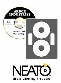 100 Neato® CLP-192217 Econo Matte  CD/DVD Labels Both Laser and Inkjet Printable - 50 Sheets