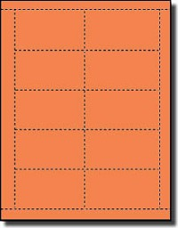 200 Printable Both Sides Business Cards, Bright Cosmic Orange, 20 Sheets